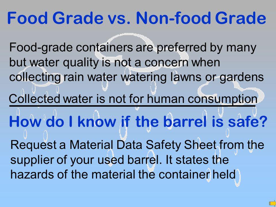 Food Grade vs.