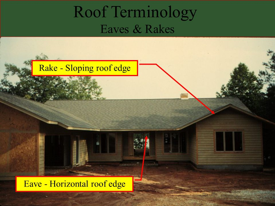 Steep Roofs Drain quickly Drain quickly –Less opportunity for gravity or wind to push/pull water through the roofing material Facilitate the use of shingles Facilitate the use of shingles –small, overlapping roofing units –Advantages: »Can be inexpensive, easy to handle & install, »Accommodate thermal expansion/contraction & structural movement »Vents water vapor easily »Visible - Aesthetics