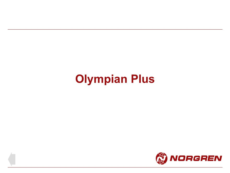 Olympian Plus FRL unit shown with gauge, shut off valve and wall mounting brackets Updated system based on the popular modular yoke with plug in units Extensive range of plug in units