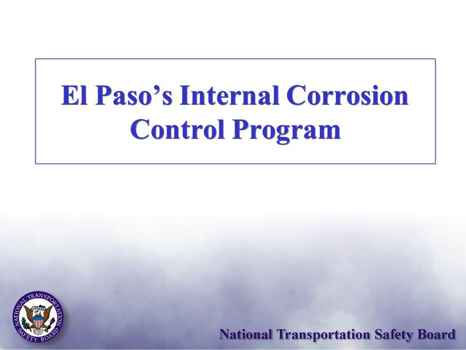 El Paso's Internal Corrosion Control Program