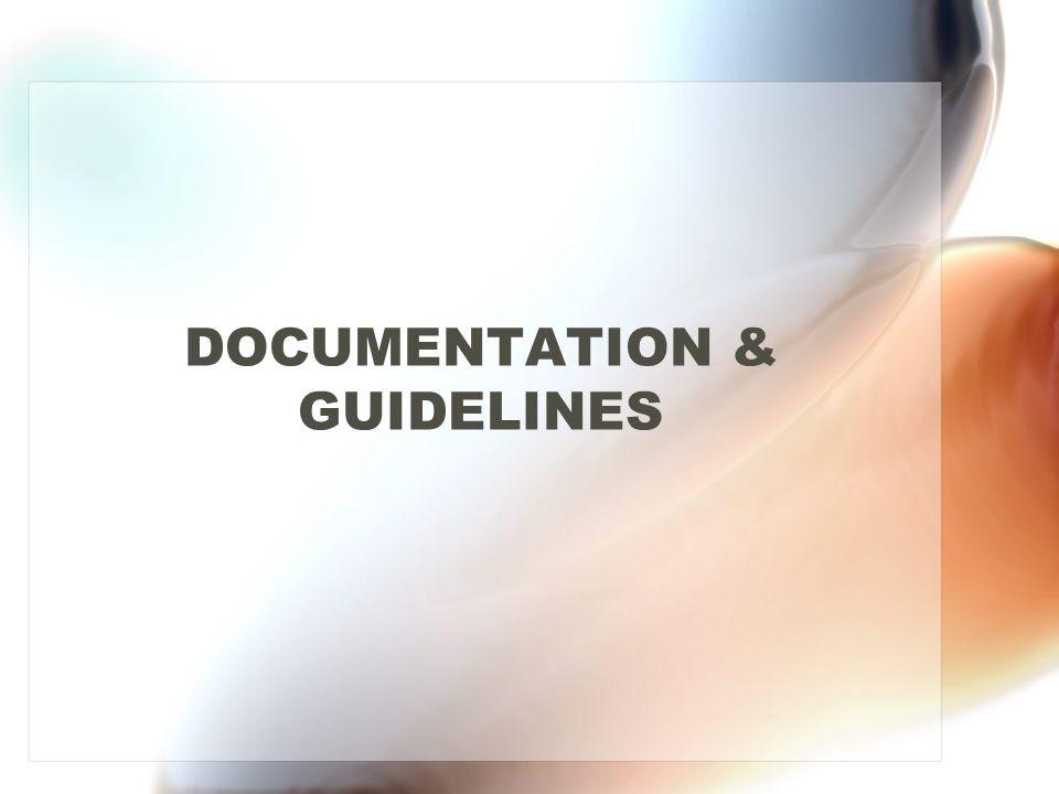 DOCUMENTATION & GUIDELINES