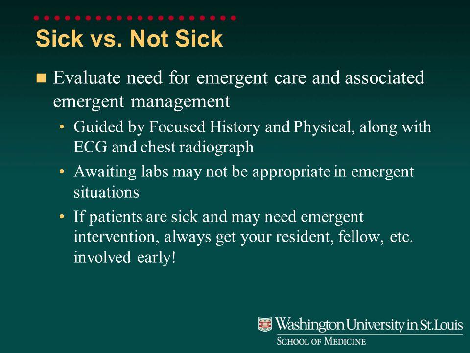 Sick vs.