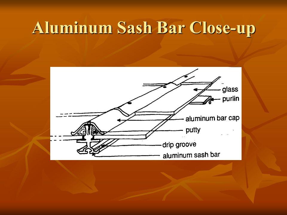 Aluminum Sash Bar Close-up