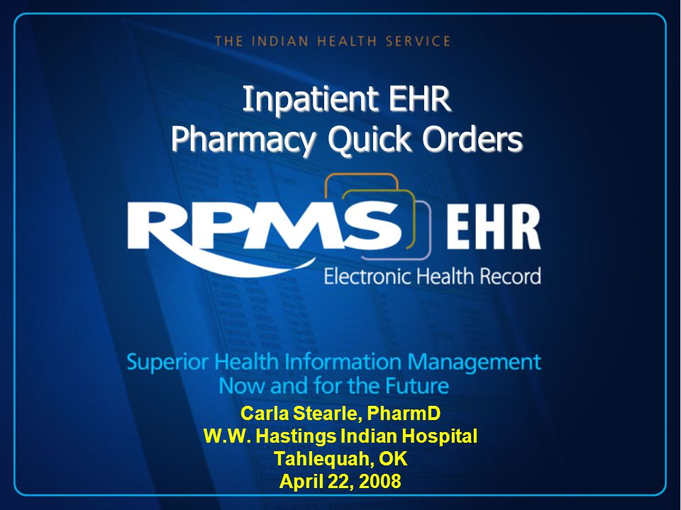 Pre-Quick Orders IV File Clean-Up Quick Orders: based on orderable items in drug file Pharmacist should be involved in creating quick orders and/or review them upon completion Outpatient quick orders will not work for inpatient medication ordering –Must start from the beginning.