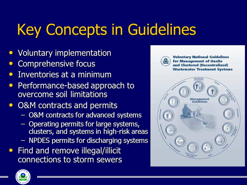 Key Concepts in Guidelines Voluntary implementation Voluntary implementation Comprehensive focus Comprehensive focus Inventories at a minimum Inventor