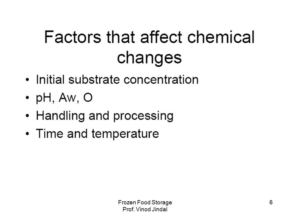 Frozen Food Storage Prof. Vinod Jindal 27
