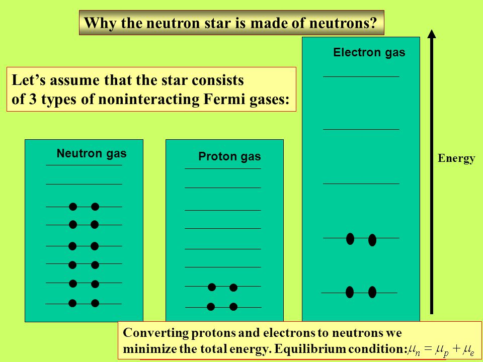Why the neutron star is made of neutrons.