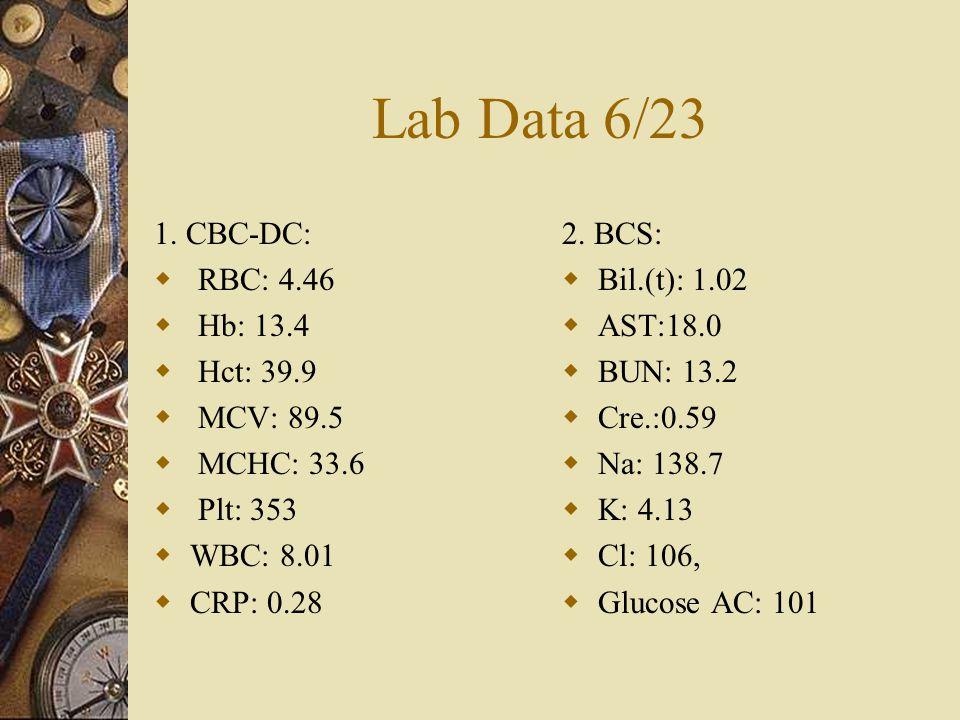 Lab Data 6/23 1.