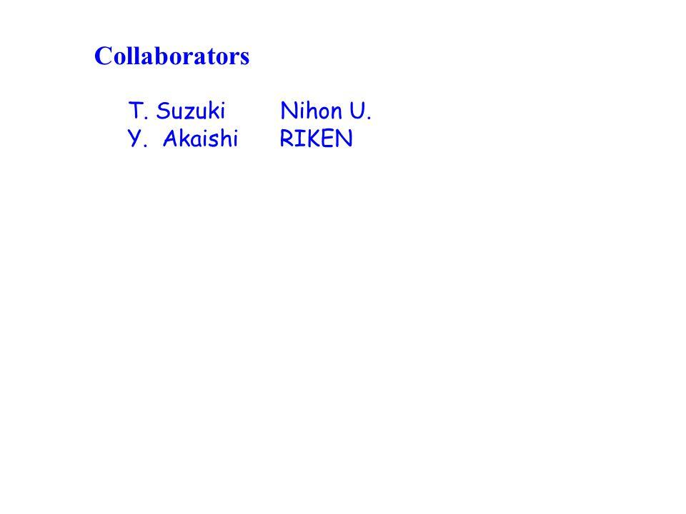 Collaborators T. Suzuki Nihon U. Y. Akaishi RIKEN