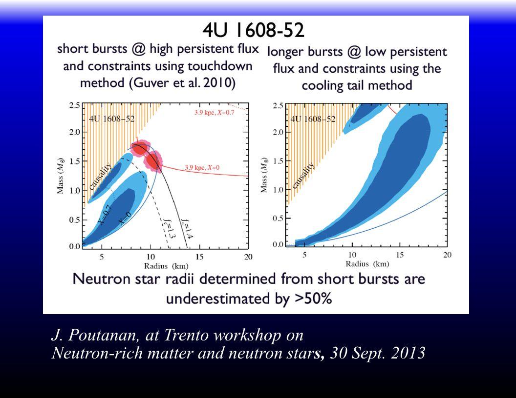 J. Poutanan, at Trento workshop on Neutron-rich matter and neutron stars, 30 Sept. 2013