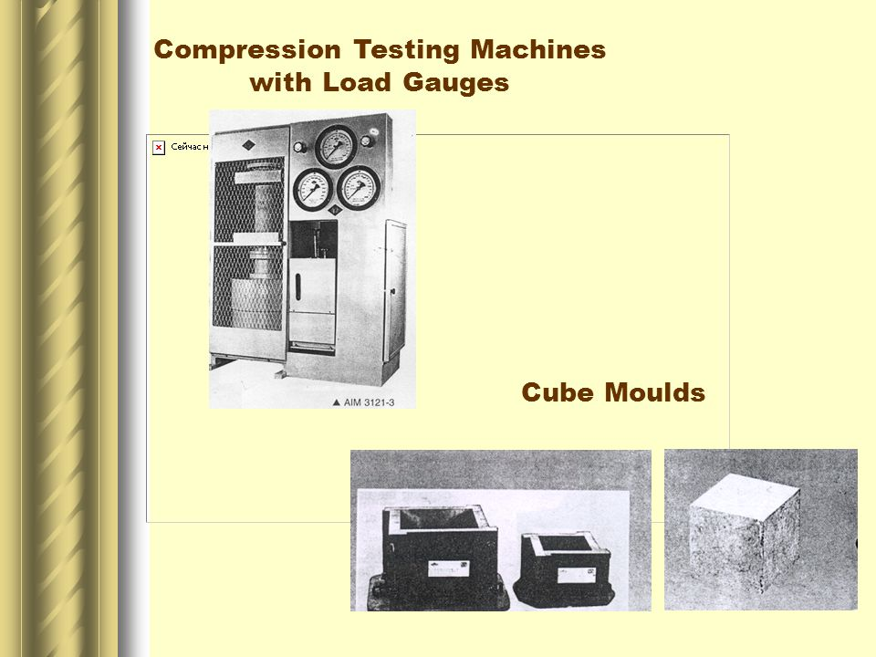 Compression Testing Machines with Load Gauges Cube Moulds