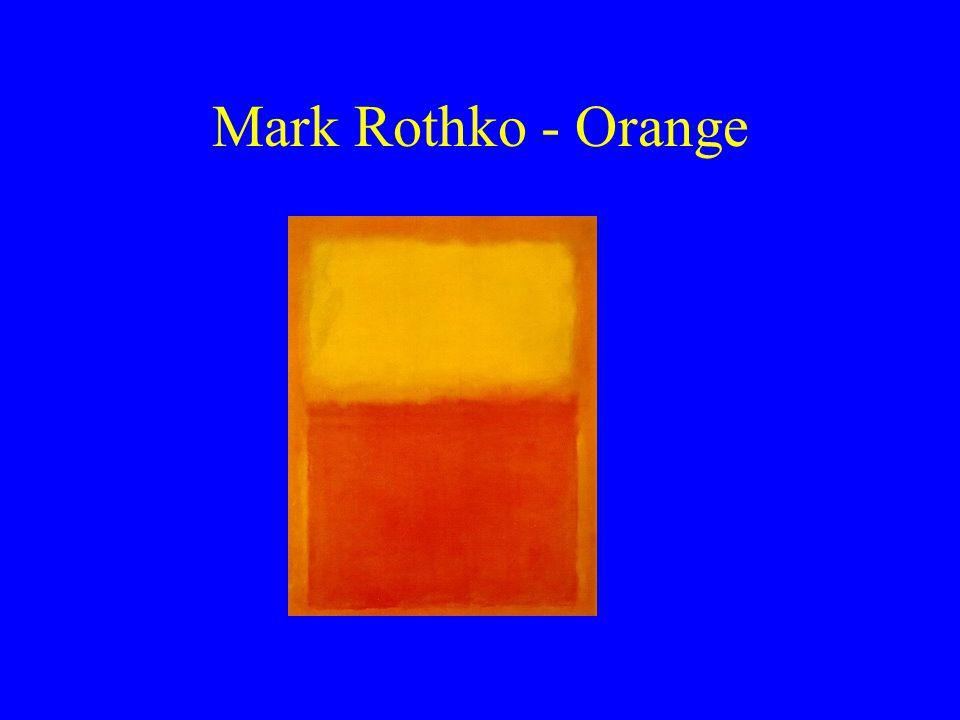 Mark Rothko - Orange