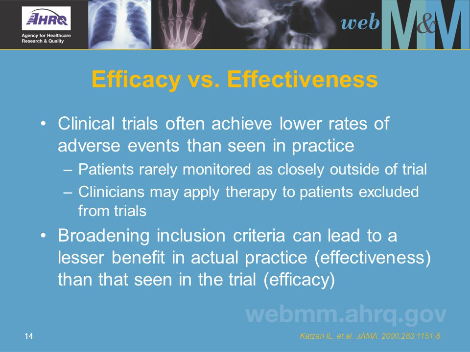 14 Efficacy vs.