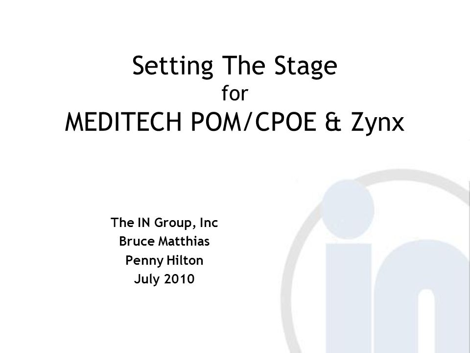 Content Folder Structure Should be structured the same as MEDITECH Order Set Groups (OE Toolbox parameter)