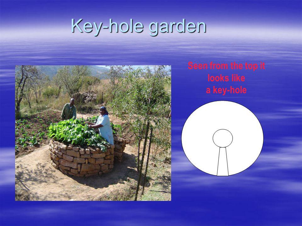 Key-hole garden Seen from the top it looks like a key-hole