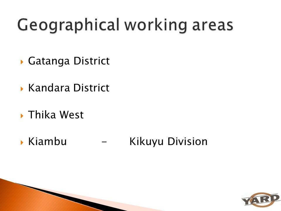  Gatanga District  Kandara District  Thika West  Kiambu-Kikuyu Division