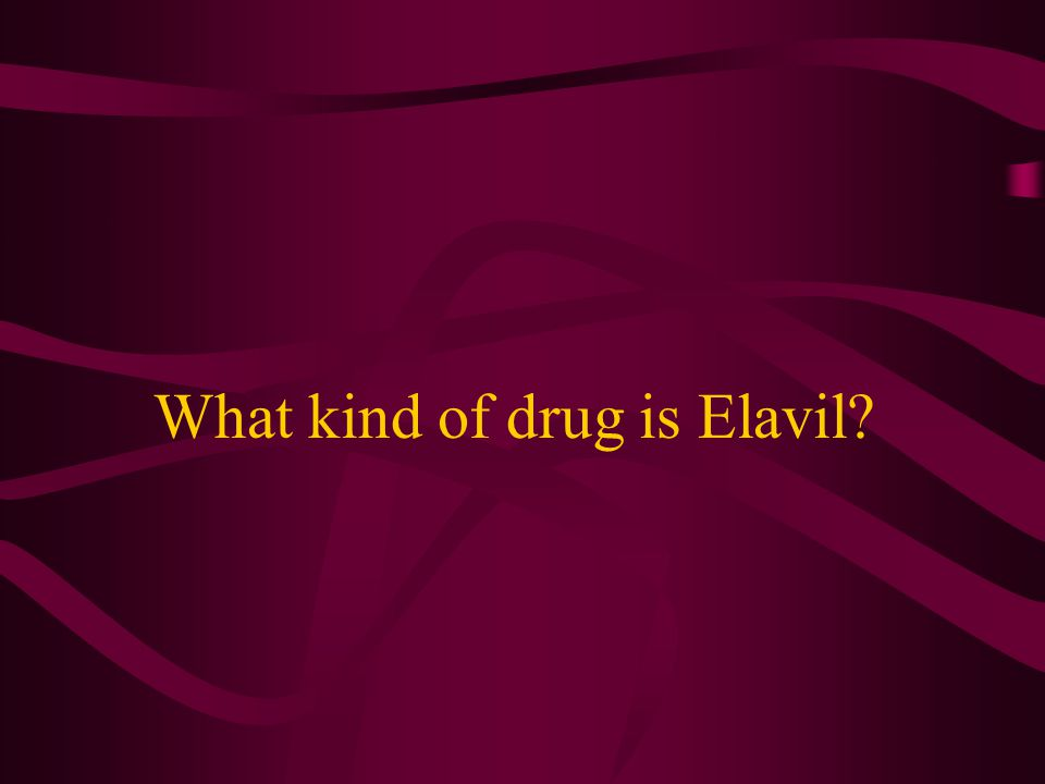 What kind of drug is Elavil