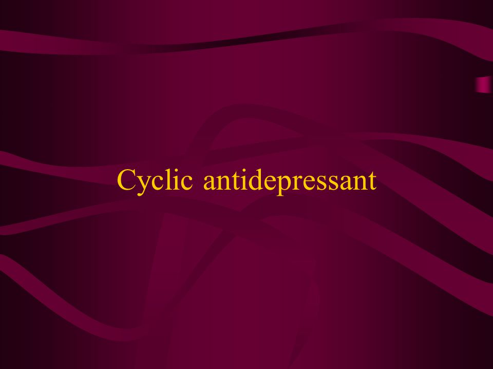 Cyclic antidepressant