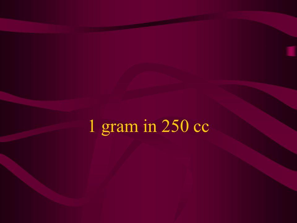 1 gram in 250 cc