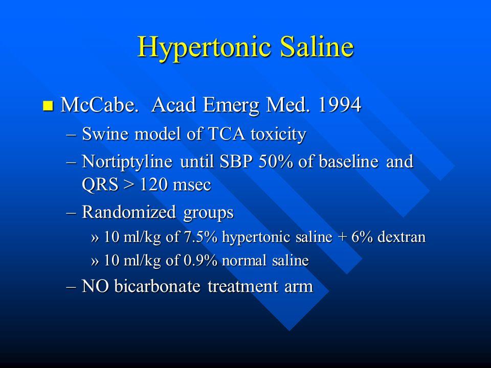 Hypertonic Saline McCabe. Acad Emerg Med. 1994 McCabe.