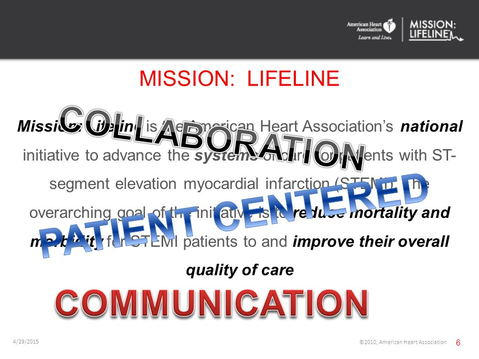INHERENT CHALLENGES Most are located in rural areas Transport Distance to PCI Centers Shift to >50% Walk in patients Financial Challenges Non-PCI Center Available EMS Resources Local Non-Invasive Cardiologists 4/29/2015 ©2010, American Heart Association 17 44
