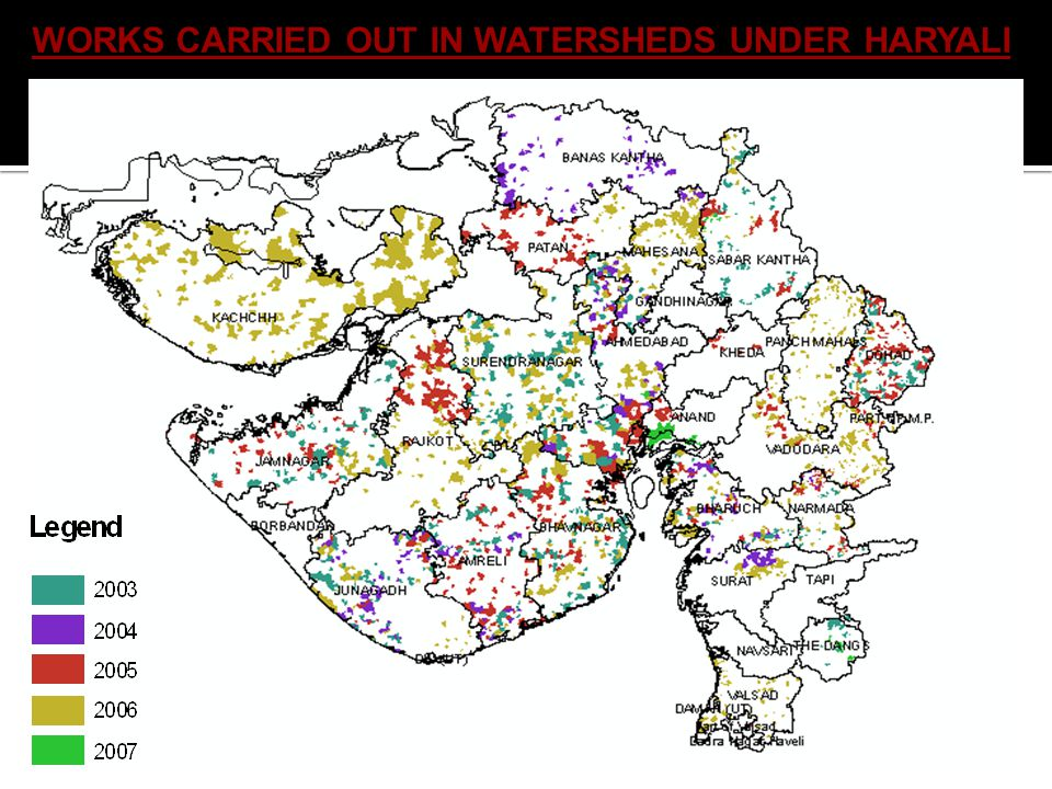 WORKS CARRIED OUT IN WATERSHEDS UNDER HARYALI