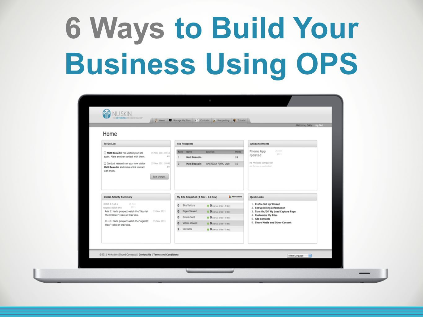 6 Ways to Build Your Business Using OPS