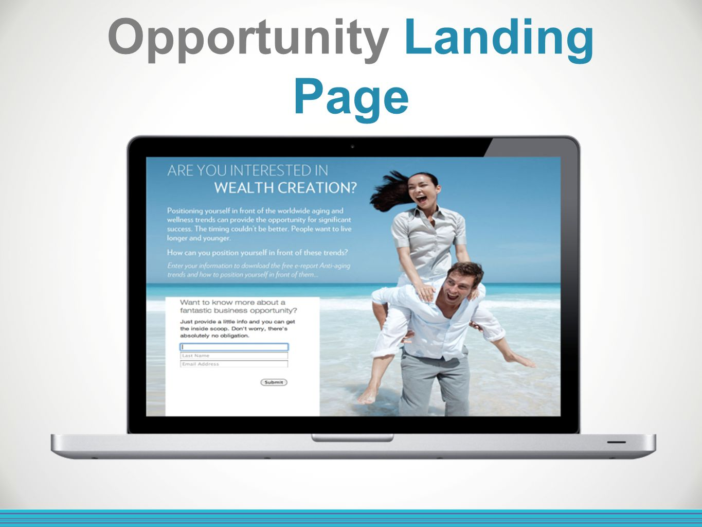 Opportunity Landing Page