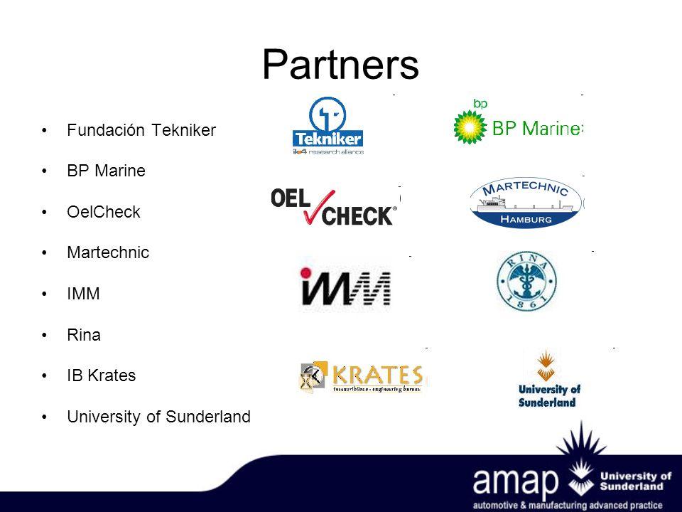 Partners Fundación Tekniker BP Marine OelCheck Martechnic IMM Rina IB Krates University of Sunderland