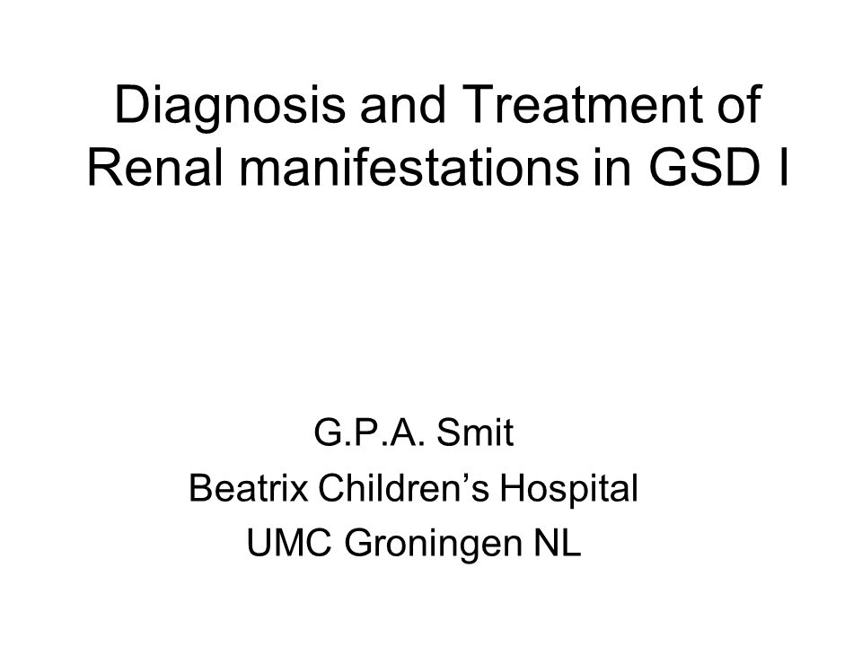 GSD I Renal manifestations Introduction Natural course Renopreservation Pregnancy Pathophysiology Conclusions
