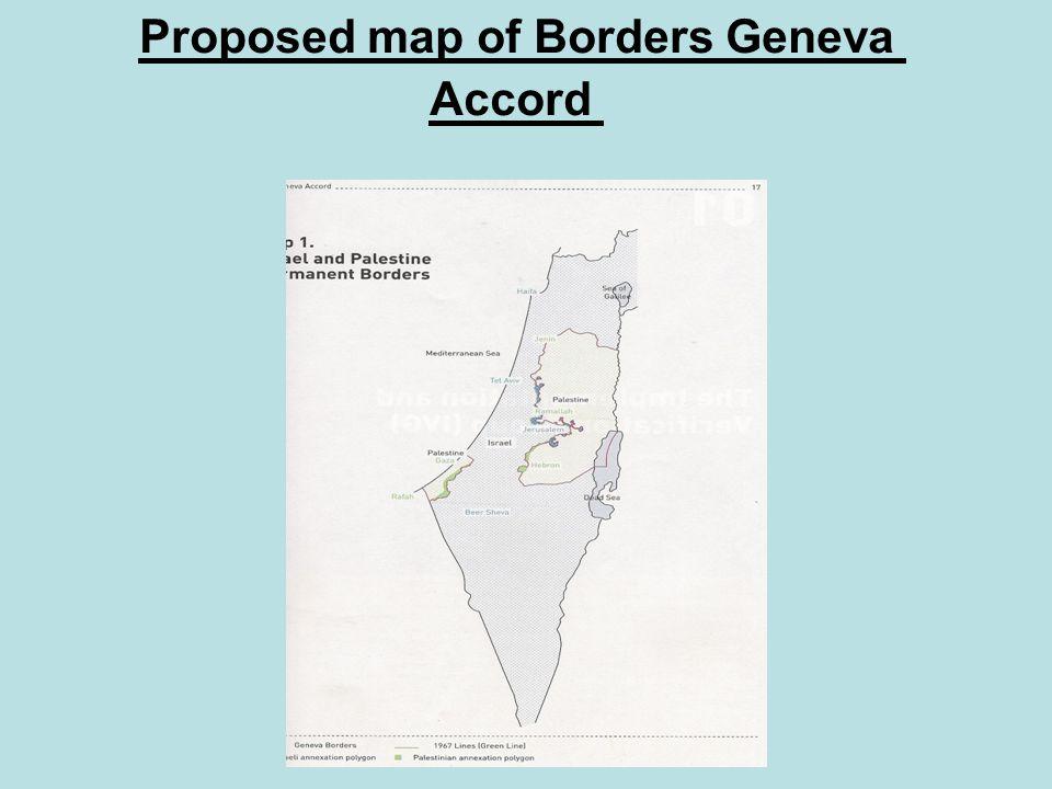Proposed map of Borders Geneva Accord