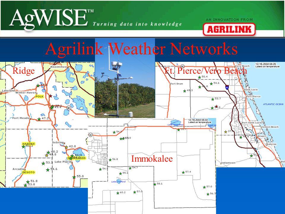 Ft. Pierce/Vero BeachRidge Agrilink Weather Networks Immokalee