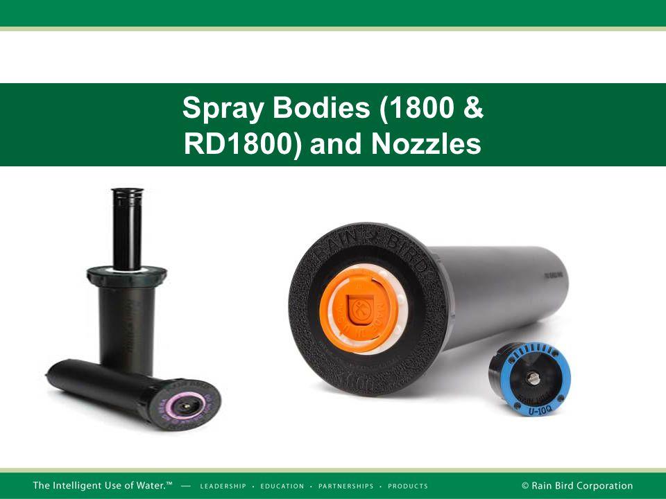 Spray Bodies (1800 & RD1800) and Nozzles
