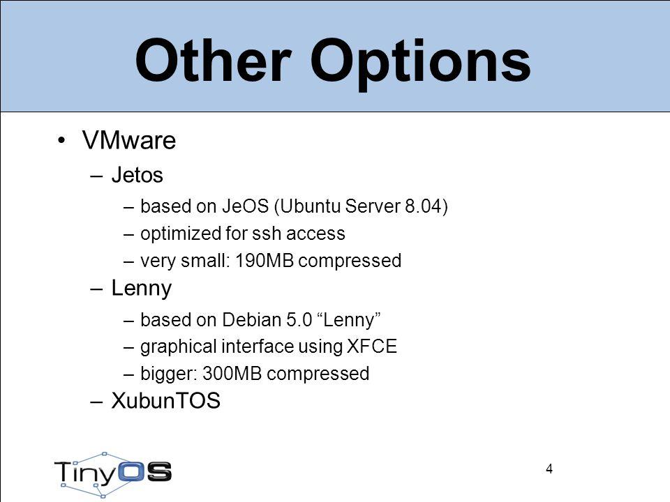 5 Components NesC: nesc_*.deb Cross compiler –binutils: msp430-binutils-tinyos_*.deb –gcc: msp430-gcc-tinyos_*.deb –libc: msp430-libc-tinyos_*.deb –gdb (optional) Deputy: deputy-tinyos_*.deb 5