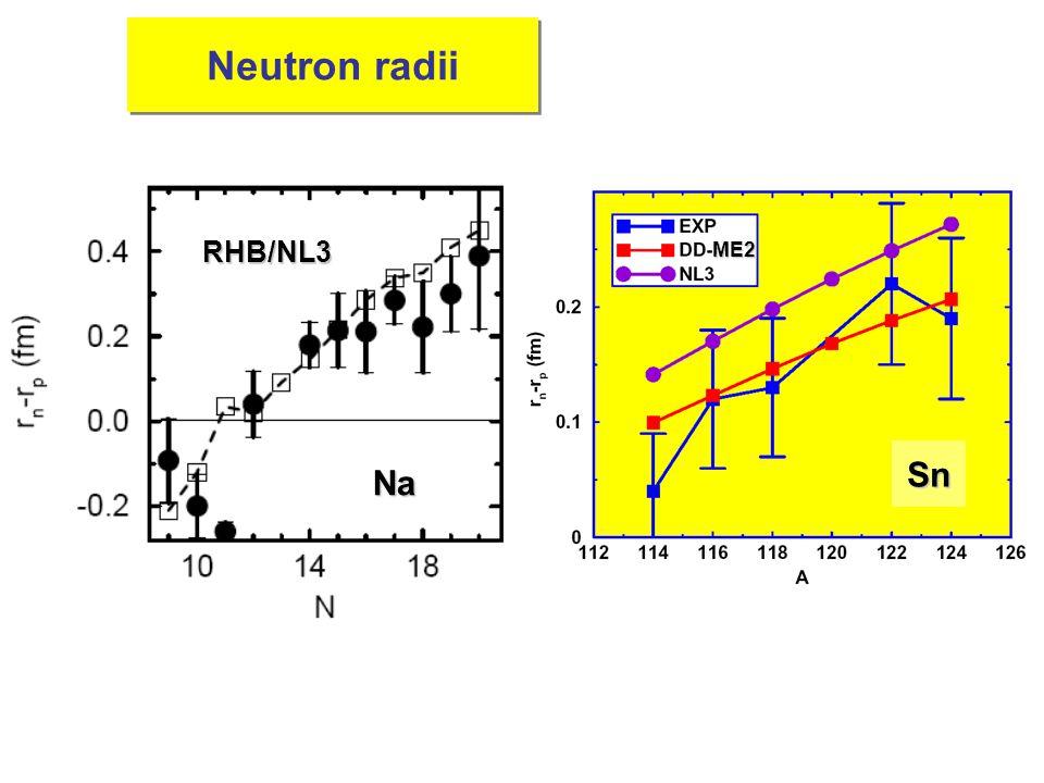 Neutron radii RHB/NL3 Na SnME2