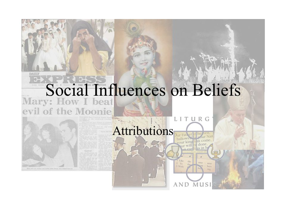 Social Influences on Beliefs Attributions
