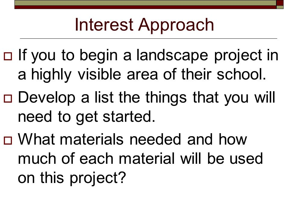Student Learning Objectives  Read a site analysis or landscape plan.