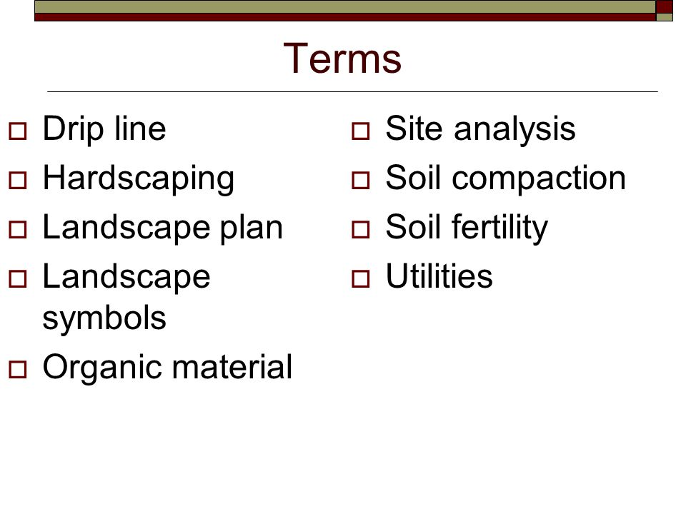 Review / Summary. 1. How do you read a site analysis or landscape plan.