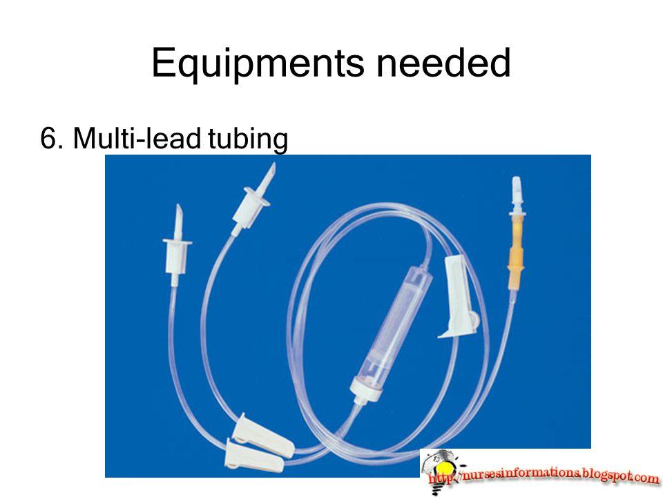 Equipments needed 6. Multi-lead tubing