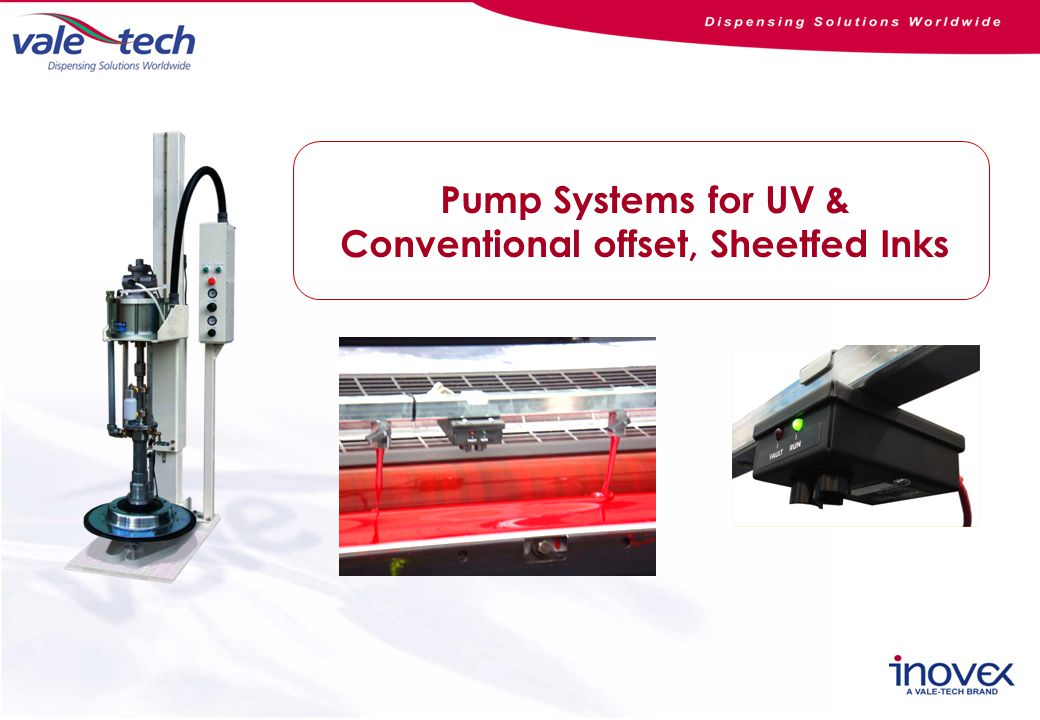 Pump Systems for UV & Conventional offset, Sheetfed Inks