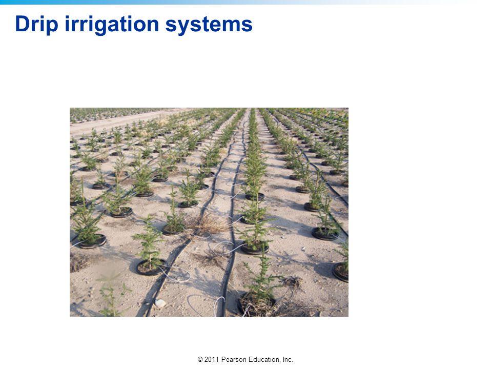 © 2011 Pearson Education, Inc. Drip irrigation systems