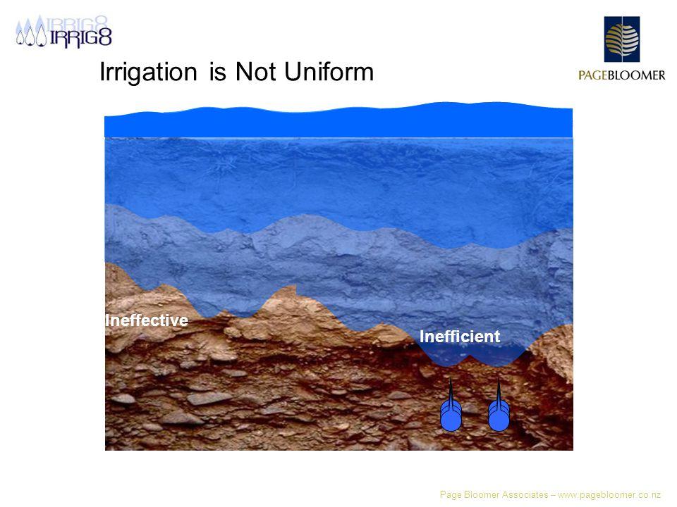 Page Bloomer Associates – www.pagebloomer.co.nz Irrigation is Not Uniform Ineffective Inefficient