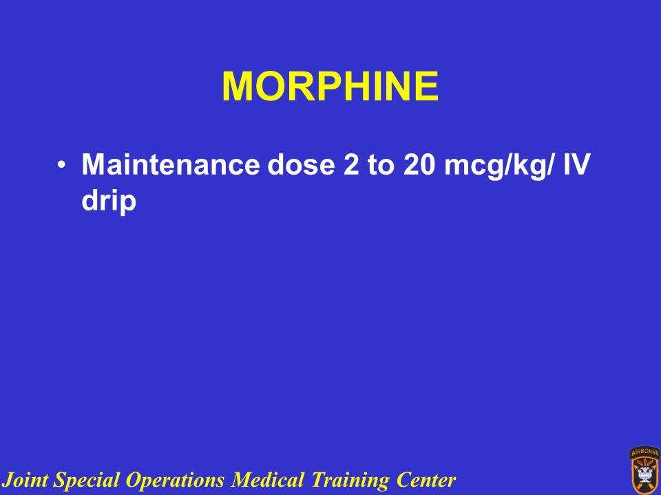 Joint Special Operations Medical Training Center PR0BLEMS What is the dose and route for preanesthetic promethazine for this patient?