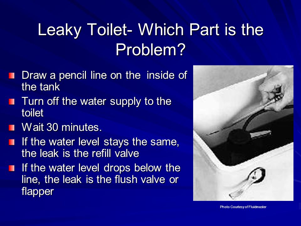Leaky Toilet- Which Part is the Problem.