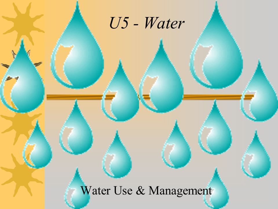 U5 - Water Water Use & Management