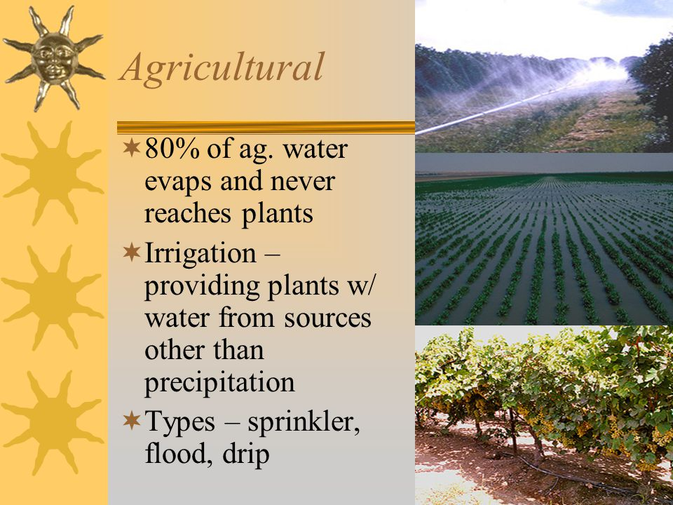 Agricultural  80% of ag.