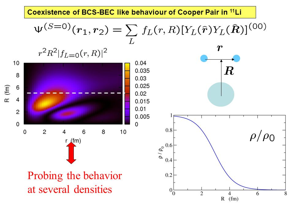 Probing the behavior at several densities Coexistence of BCS-BEC like behaviour of Cooper Pair in 11 Li