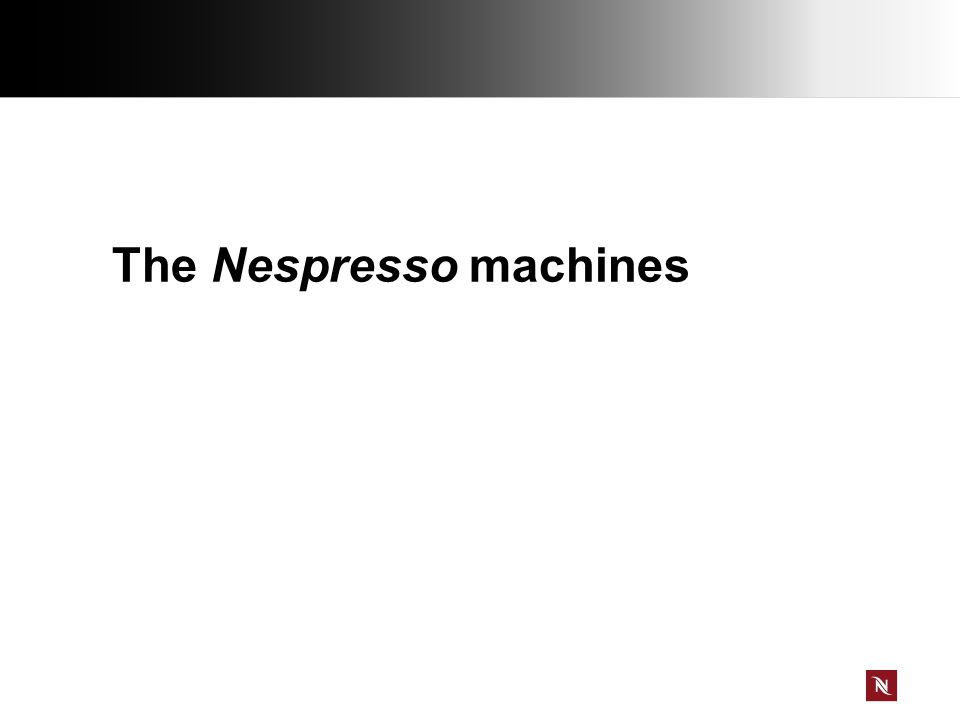 The Nespresso machines