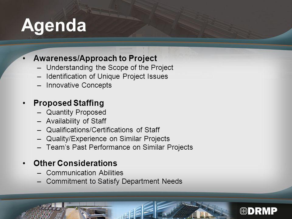 Awareness/Approach to Project Understanding the Scope Project Description FPN: 419706-1-62-01 US 98/US 441 @ Taylor Creek (Bridge No.