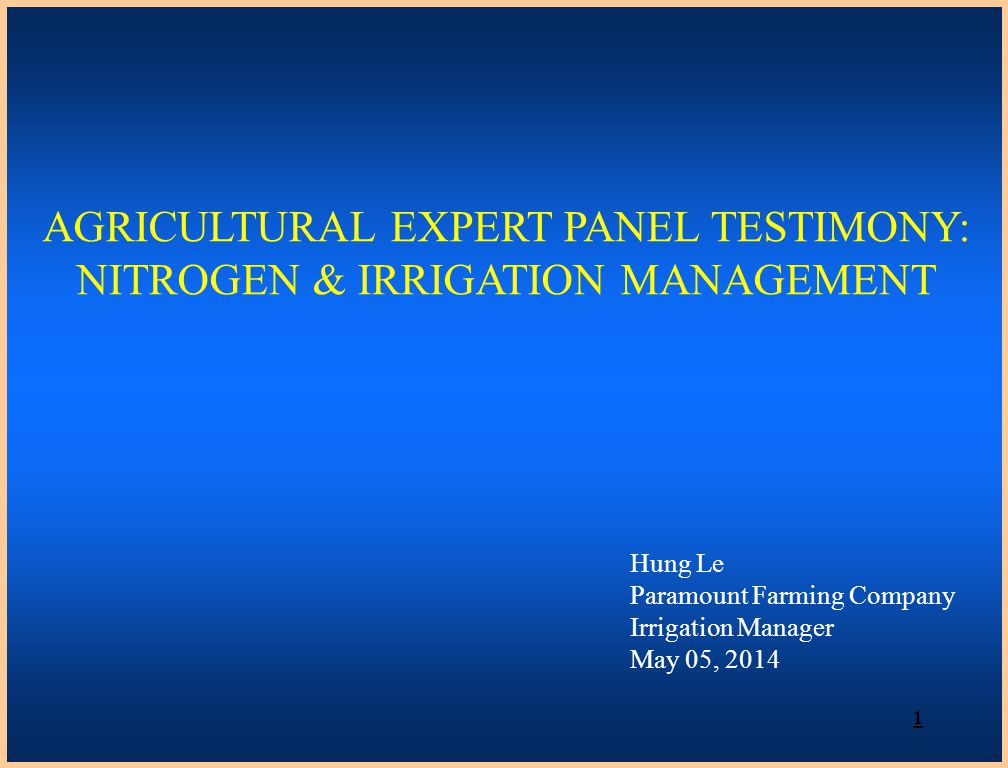 PURPOSE & INTENT OF NITROGEN MANAGEMENT & IRRIGATION MANAGEMENT Effective Nitrogen Management Satisfies crop demand Results in improved yields Prevents over application and leaching to groundwater & other surface water source Effective Irrigation Management Enables effective nitrogen management Leads to higher crop production High cost of fertilizer and water creates an incentive for management 2